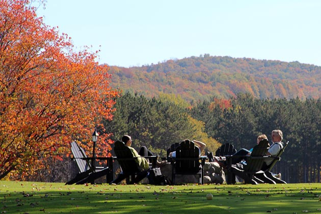 Fall color views at Boyne Highlands Resort in Harbor Springs. Photo courtesy of Boyne Highlands Resort.