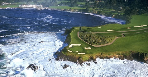 Pebble Beach golf vacation packages 36.5725° N, 121.9486° W